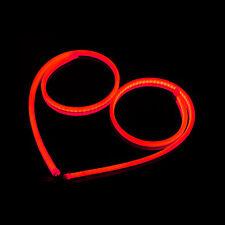 2 Pcs 60CM LED Red Car DRL Daytime Running Lamp Strip Light Flexible Soft Tube