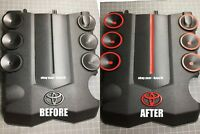 Toyota 4Runner Engine Cover Decals 2010 2011 2012 2013 2014 2015 2016 2017 18 19