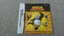 Nintendo ds booklet instructions manual kung fu panda legendary warriors