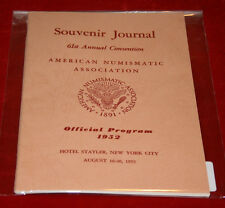 ANA Souvenir Journal - 61st Annual Convention Aug. 16-20, 1952 Official Program