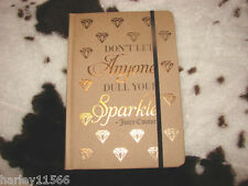 JUICY COUTURE GOLD LINED JOURNAL LIMITED EDITION NEW SUPER HOT THIS YEAR!!