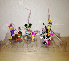 Disney Store Minnie Mouse Rock Star 6pc Ornaments Toy Figures Set Mickey Daisy