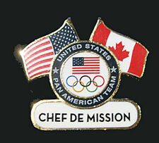 TORONTO 2015 Pan Am Olympic Games Lmtd USA Chef De Mission delegation team pin
