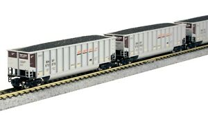 N Scale KATO Bethgon Coalporter BNSF SWOOSH (8) Car Set Item #106-4628