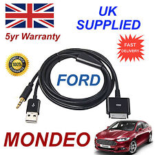 Ford MONDEO 1529487 3GS 4 4S iPhone iPod Cable Usb Y Aux Negro
