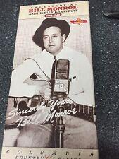 BILL MONROE (SEALED) 2 Cassette Box Set Columbia Records, 1992.
