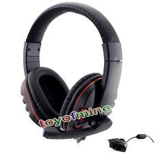 Negro y rojo para auriculares w/ mic para controlador de Microsoft Xbox 360 Live