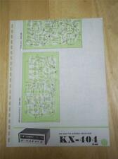 Pioneer Schematic Diagram for Service of the KX-404 Receiver~manual