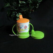 Tupperware NEW Baby Toddler Snack Cup w Sippy Seal Cap  W/ Handle Early Ages Eco