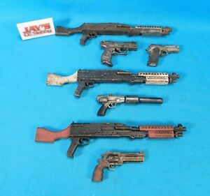 Lot of 7 ThreeA 3A Ashley Wood 1/6 Scale Machine Guns & Hand Guns for Customs