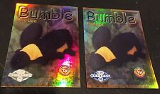 BUMBLE The Bee TY Beanie Babies Series 2 RETIRED Rare Silver & Blue Cards #275
