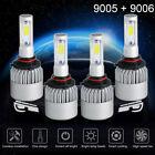 9005+9006 6000K 2040W 306000LM Combo CREE LED Headlight Kit High Low Light Bulbs