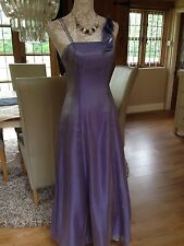 DESIGNER DEBUT DEBENHAMS SHIMMERY LILAC EVENING PROM DRESS LONG BALL GOWN 8 36