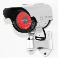 Dummy Security Camera - Solar Powered -  CCTV Security Deterrent Ring LED Lights