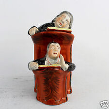 Antique English Staffordshire or Pearlware Vicar & Moses Figurine - PT