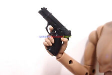 """1 x 1/6 Scale Chinese QSZ92 Pistol (Black / Grey) For 12"""" Action Figure SWAT"""