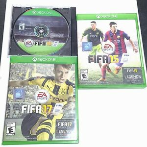 Lot of 3 XBOX One FIFA 17 + FIFA 16 + FIFA 15 all are Disc only No Manuals