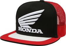 Fox Racing Mens Guys Honda Logo Snapback Hat Blk/Red & Nvy/Wht Trucker Ball Cap