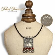 Antique Indian Amulet Pendant Tribal Boho Bohemian Hippie Necklace