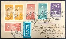 Denmark #C2,6,7,8 on 1938 Cover to Harrisburgh, PA USA