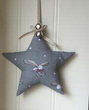 Sophie Allport LAVENDER Christmas Star  Night Owl Jingle  Bells Linen ribbon
