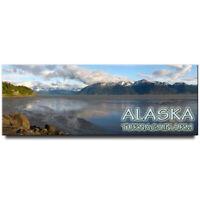 Turnagain Arm panoramic fridge magnet Alaska travel souvenir