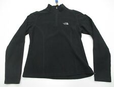 THE NORTH FACE #L1230 Men's Size S Casual Hiking 1/2 Zip Black Fleece Jacket