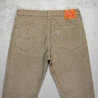 Mens LEVIS 514 Slim fit Corduroy Jeans Size W34 L32 Straight Leg Stretch Trouser