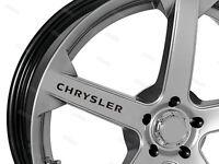 ***Chrysler 300C SRT-8 Chrysler Crossfire wheel set gel domed 54mm***OLD STYLE
