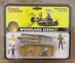 O scale FAMILY FISHING Woodland Scenics Train People # 2756
