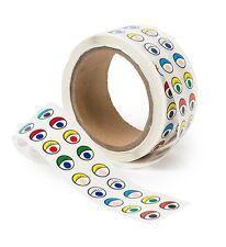 2000 Coloured Eye Stickers, Adhesive Google Googly Eyes. Kids Craft Activities.