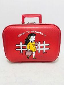 "Vintage Trojan Luggage Co. ""Going to Grandma's"" Child's Travel Case"
