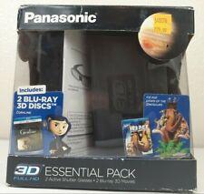 Panasonic TY-EW3D10MK1 3D Starter Kit, 2 Active Shutter Glasses / Two 3D Movies