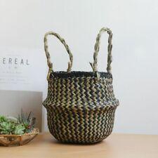 Wicker Basket for Decor Laundry Storage Rattan Wicker Basket Foldable Hanging