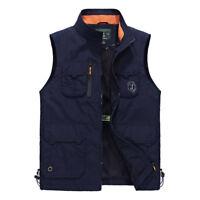 New Men's Multi Pocket Outdoor Fishing Vest Photography Waistcoat Hiking Jackets