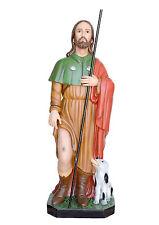 Saint Roch fiberglass statue cm. 120 with glass eyes