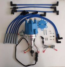 small cap FORD INLINE 6 170-200-250 BLUE HEI Distributor & 8mm spark plug wires
