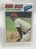 1977 Topps Carl Yastrzemski Boston Red Sox #480 Baseball Card with Stand