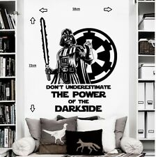 STAR WARS DARTH VADER Vinyl wall art sticker room bedroom movie decal