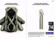 PUBLICITE ADVERTISING 104  2006  HANSAPLAST  préservatif  ( 2 pages)