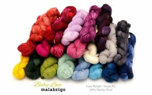 Baby Lace by Malabrigo (100% Merino Wool Lace Weight) 27 COLORS