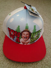 "ELF CHRISTMAS MOVIE ""SON OF A NUTCRACKER"" MENS HOLIDAY CAP unusual MINT with tag"