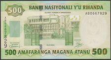 TWN - RWANDA 30a - 500 Francs 1/7/2004 UNC Prefix AB