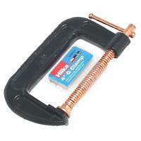 """4"""" 100mm G Clamp Heavy Duty Cast Iron Clamps Wood Working Welding Tool"""