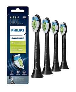 Philips Sonicare DiamondClean Toothbrush Head, 4 Pack, Black, HX6064/95
