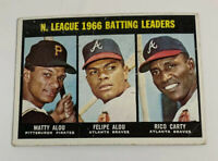 1967 National League 1966 Batting Leaders # 240 Topps Baseball Card Matty Alou