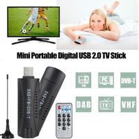 USB 2.0 DVB-T DAB FM Display Dongle TV Receiver Stick TV Tuner RTL2832U+R820T