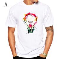 Summer Mens Short Sleeve Cartoon Print T-Shirt Harajuku Funny Tee Tops Hipster