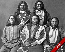 NATIVE AMERICAN SHOSHONE INDIANS BLACK WHITE PHOTO ART REAL CANVAS GICLEE PRINT