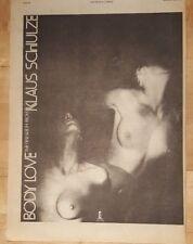 Klaus Schulze Cuerpo LOVE EDICIÓN anuncio completo Páginas 28 x 38cm Póster